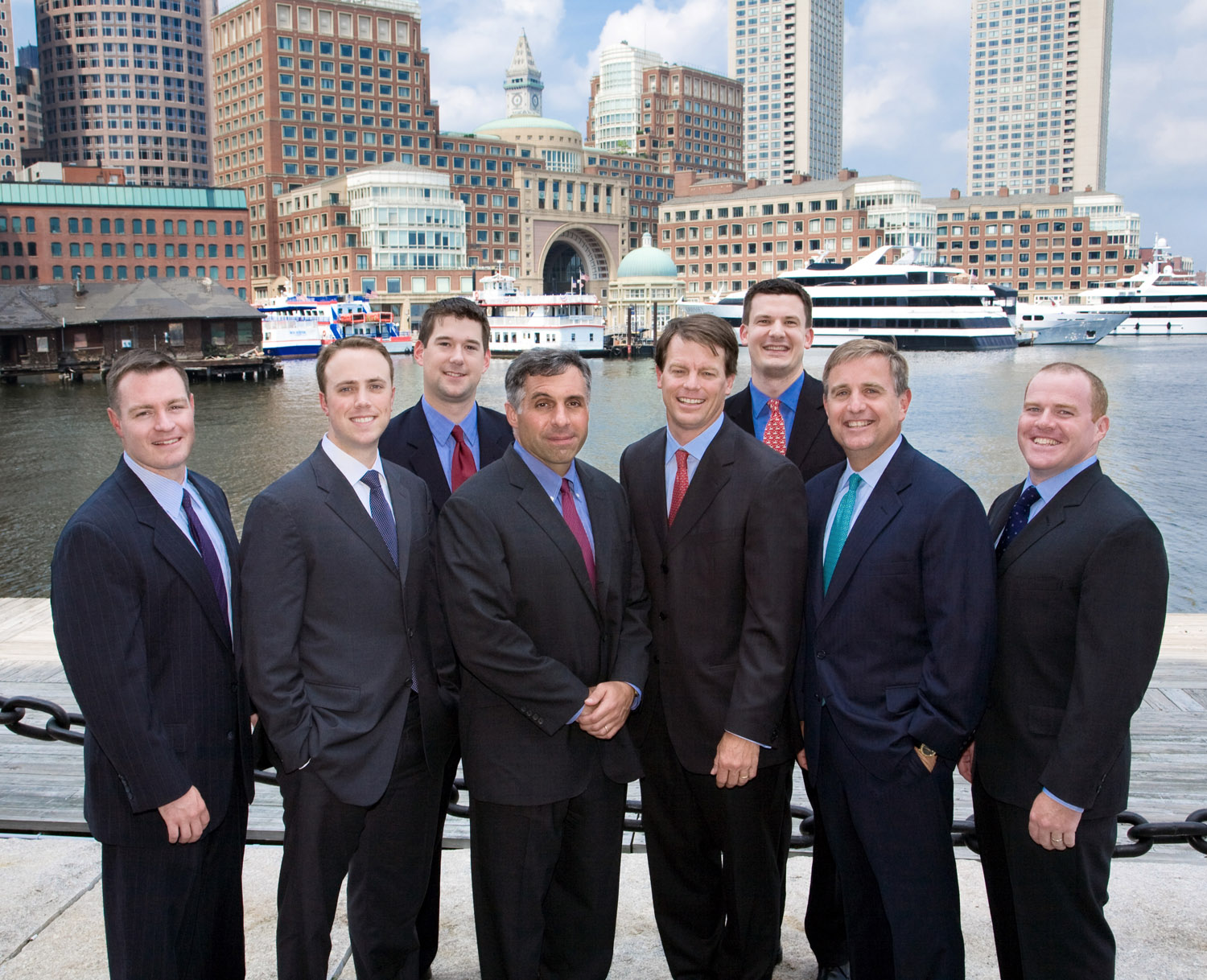 management team on Boston's waterfront