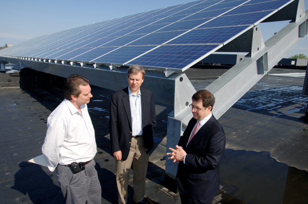 industrial photo of rooftop solar array