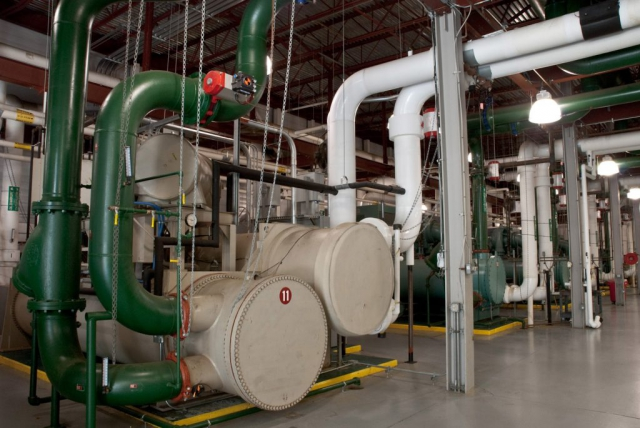industrial photo of cooling plant