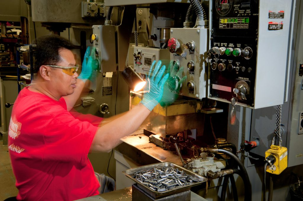 industrial photo of machine operator