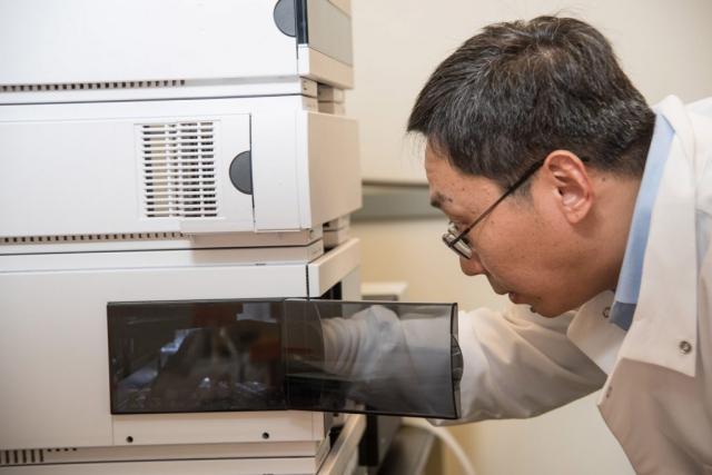 industrial photo of lab scientist