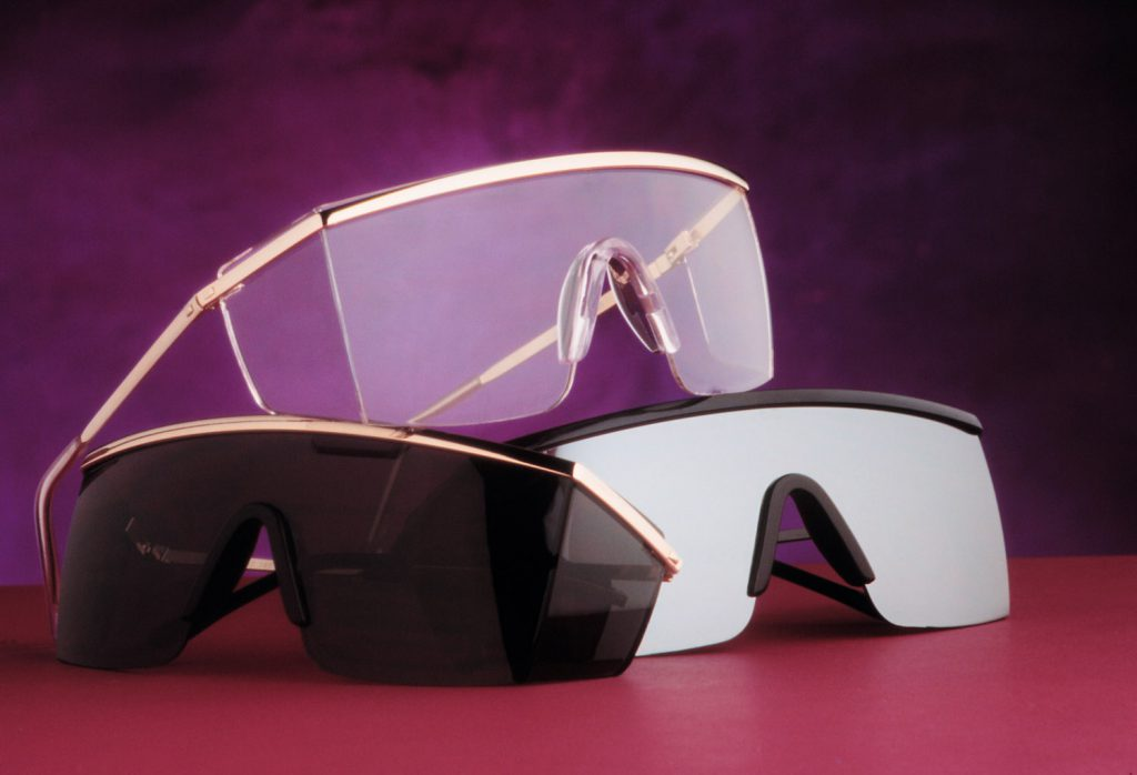 Product photo of safety glasses