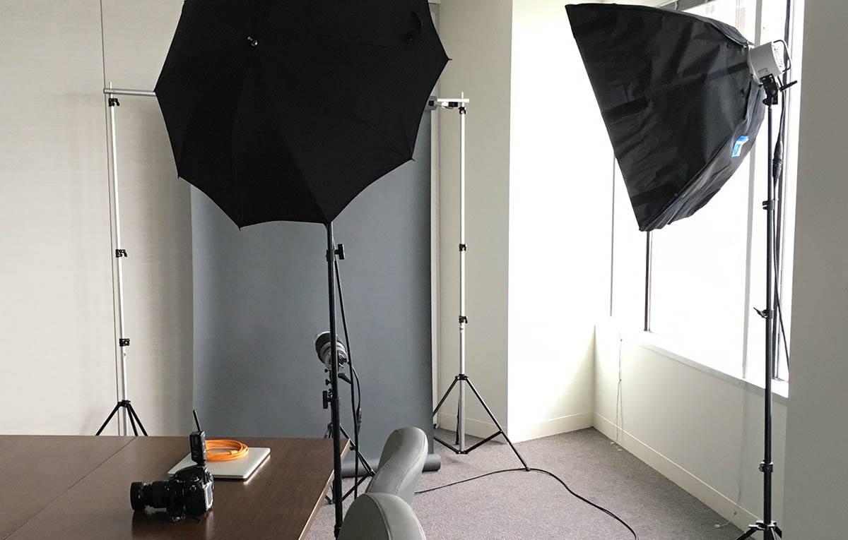 location portrait lighting setup
